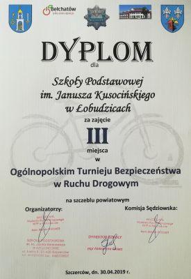 Czytaj więcej: III miejsce w etapie powiatowym Ogólnopolskiego Turnieju Bezpieczeństwa w Ruchu Drogowym!!!
