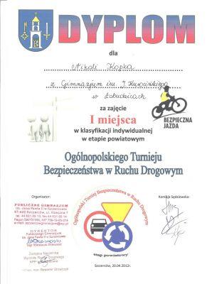 Czytaj więcej: XXXV Ogólnopolski Turniej Bezpieczeństwa w Ruchu Drogowym - etap powiatowy