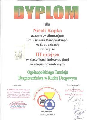 Czytaj więcej: Ogólnopolski Turniej Wiedzy o Ruchu Drogowym - etap powiatowy