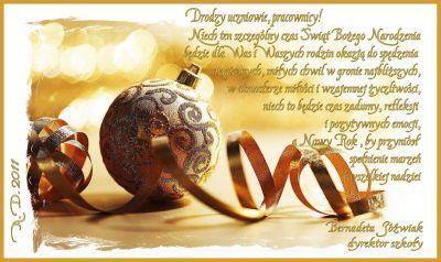Czytaj więcej: Życzenia świąteczne i noworoczne